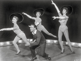 Les Girls Four People Dancing in Black and White Photo by  Movie Star News