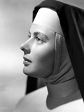 Ingrid Bergman in Sisters Outfit Black and White Photo by E Bachrach
