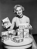Virginia Mayo smiling and Endorsing a Product Photo by  Movie Star News