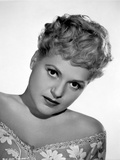 Judy Holliday on V-neck Printed Leaning Portrait Photo by  Movie Star News