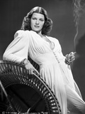 Rita Hayworth Smoking a Cigarette in a White Gown Photo by A.L. Schafer
