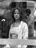 Linda Blair standing in White Coat Classic Portrait Photo by  Movie Star News