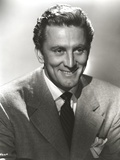 Kirk Douglas smiling in Formal Outfit Portrait Photo by  Movie Star News