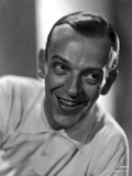 Fred Astaire Posed in White Shirt Black and White Photo by E Bachrach