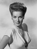 Maureen O'Hara Portrait in White Deep V-neck Dress Photo by E Bachrach