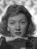 Gloria Grahame Red lipstick, Curly Hair Portrait Photo by  Movie Star News