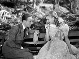 Fred Astaire and Ginger Rogers sitting on Bench Photo by  Movie Star News