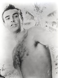 Sean Connery Undress Black and White Portrait Photo by  Movie Star News
