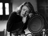 Ingrid Bergman Leaning on Chair Classic Portrait Photo by Bud Graybill