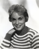 Janet Leigh with Man in Black and White Portrait Photo by  Movie Star News
