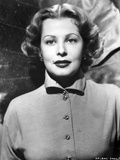 Arlene Dahl Close Up in Black and White Portrait Photo by  Movie Star News