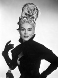 Eva Gabor on a Long Sleeve Dress with Glove Portrait Photo by  Movie Star News