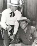 Bonanza in Cowboy Outfit in Gray scale Portrait Photo by  Movie Star News
