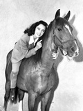 Elizabeth Taylor Horse Riding Classic Portrait Photo by  Movie Star News