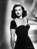 Joan Bennett wearing a Black Cap-Sleeve Dress Photo by  Movie Star News