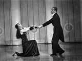 Fred Astaire and Ginger Rogers Dancing in Black Photo by  Movie Star News