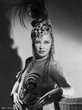 Mae West Posed in Elegant Dress with Headdress Photo by  Hurrell