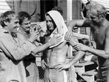 Paul Newman Massaged to Start the Fighting Scene Photo by  Movie Star News