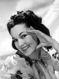 Maureen O'Sullivan smiling in White Printed Dress Photo by  Movie Star News