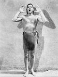 Johnny Weissmuller Shouting in a Classic Movie Scene Photo by  Movie Star News