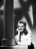 June Allyson Leaning Posed in White Long Sleeves Photo by  Movie Star News