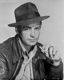 Alan Ladd in Black and White Portrait with Hat Photo by  Movie Star News