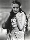 Dorothy Lamour Portrait in Classic with Hawaiian Lei Photo by  Movie Star News