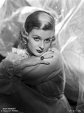Joan Bennett on a Lace Top and Face Leaning on Hand Photo by  Movie Star News