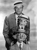 Edgar Bergen Posed in Tuxedo With Two Puppets Photo by  Movie Star News