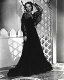 Loretta Young Black Long Dress and Screen Sleeves Photo by  Movie Star News