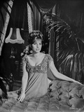 Barbra Streisand Leaning On A Couch In Sexy Dress Photo by  Movie Star News