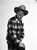 Gene Autry smiling in Cowboy Hat and Checkered Shirt Photo by  Movie Star News