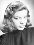 Lauren Bacall Close Up Portrait in Black Dress Photo by  Movie Star News