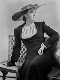 Maureen O'Hara Posed in Black Coat With Hat Photo by E Bachrach