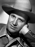 Gene Autry Leaning on Hand in Cowboy Outfit Photo by  Movie Star News