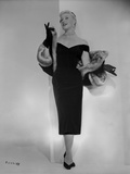 Ginger Rogers Posed wearing Black Gown Photo by Bud Fraker