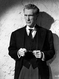 John Carradine in Black and White Portrait Photo by  Movie Star News