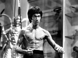 Bruce Lee in Topless with Blood on Stomach Photo by  Movie Star News
