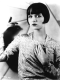 Louise Brooks Posed in Glossy Dress Portrait Photo by  Movie Star News
