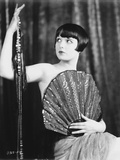 Louise Brooks Posed in Topless with Big Fan Photo by  Movie Star News