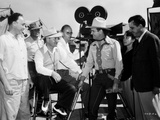 Gene Autry Talking to a Man Seated on Chair Photo by  Movie Star News