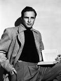 Marlon Brando Movie Scene in Black and White Photo by  Movie Star News