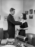 Ronald Reagan Holding a Woman on the Shoulders Photo by  Movie Star News