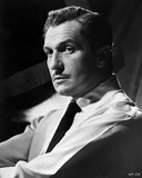 Vincent Price Posed in White Shirt and Necktie Photo by  Movie Star News