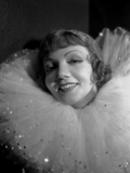 Claudette Colbert in White with Black Background Photo by ER Richee