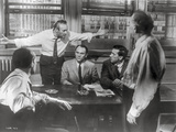 Twelve Angry Men Movie Scene in Black and White Photo by  Movie Star News