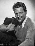 William Holden Portrait in Black and White Photo by AL Schafer