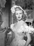 Ginger Rogers Posed in White Dress Portrait Photo by  Movie Star News