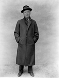 William Frawley in Black Coat With Hat Portrait Photo by  Movie Star News