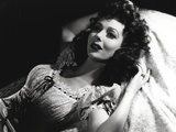 Loretta Young Lying in Bed Lady Curly Hair Photo by  Movie Star News